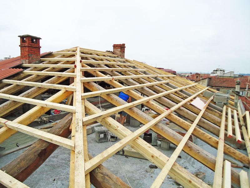Carpenteria tetto in legno
